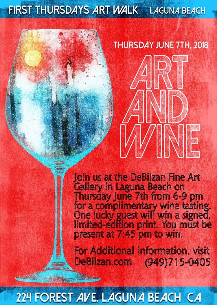 Complimentary Wine Tasting At The Debilzan Fine Art Gallery In Laguna Beach