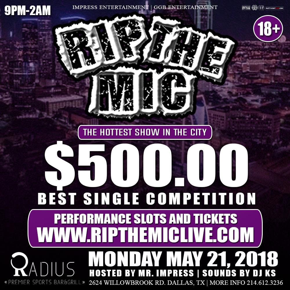 RIP THE MIC $500 BEST SINGLE COMPETITION @ RA