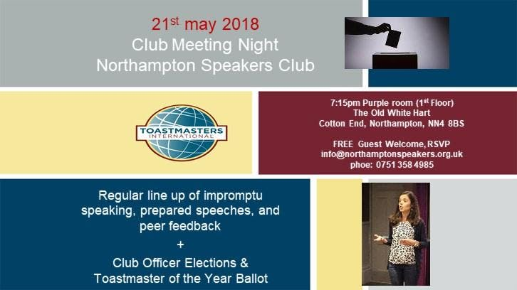 Club meeting @ Northampton Speakers