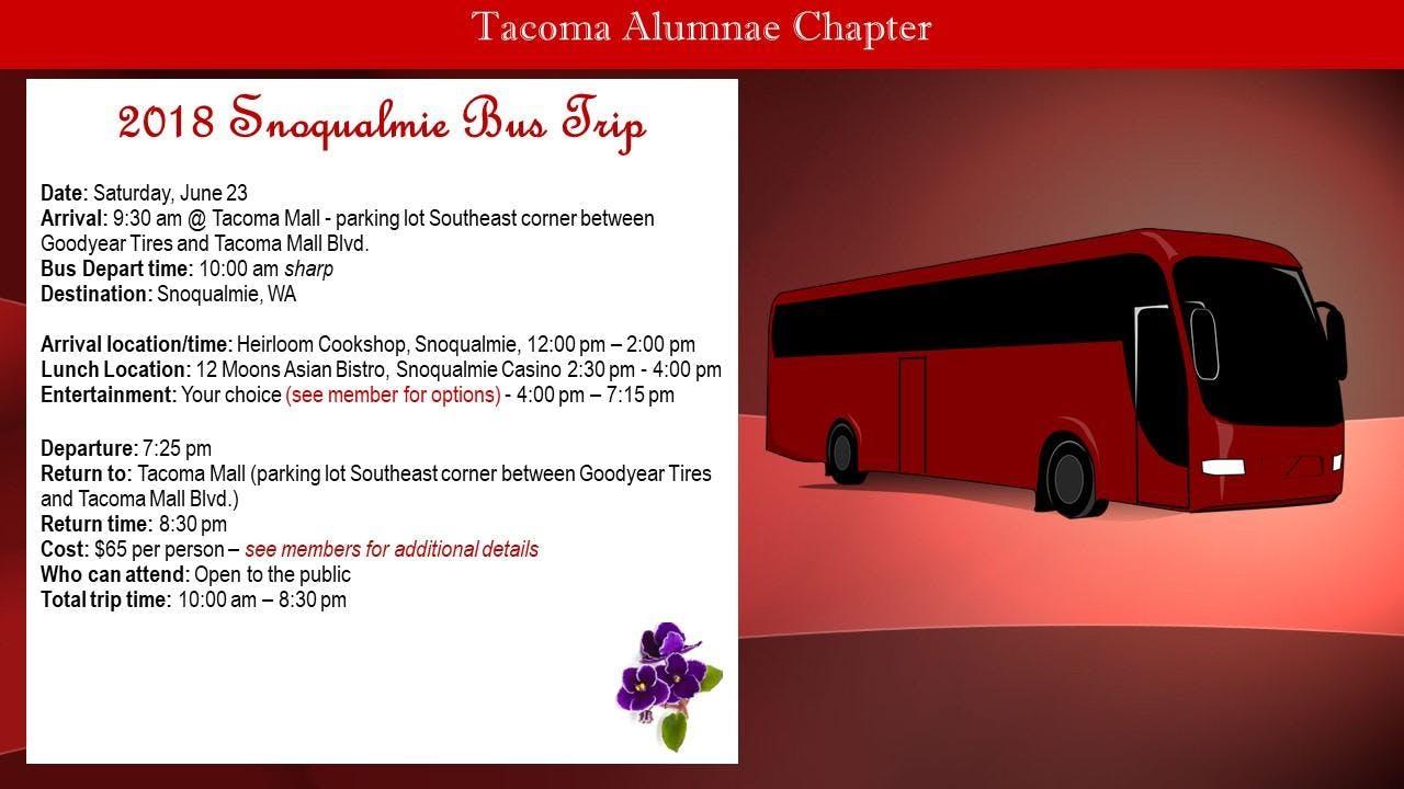Delta Snoqualmie Bus Trip