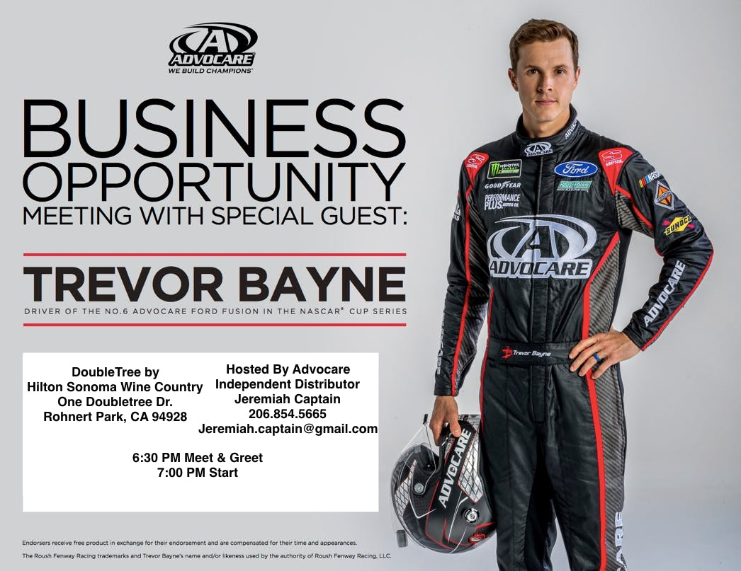 ADVOCARE BUSINESS OPPORTUNITY WITH TREVOR BAY