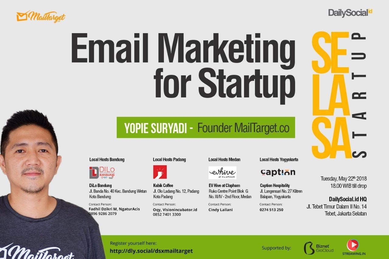 "#SelasaStartup ""Email Marketing for Startup"""