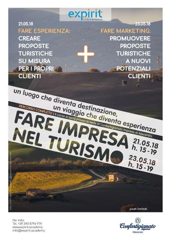 """Corso """"Fare turismo: come creare e promuovere"""