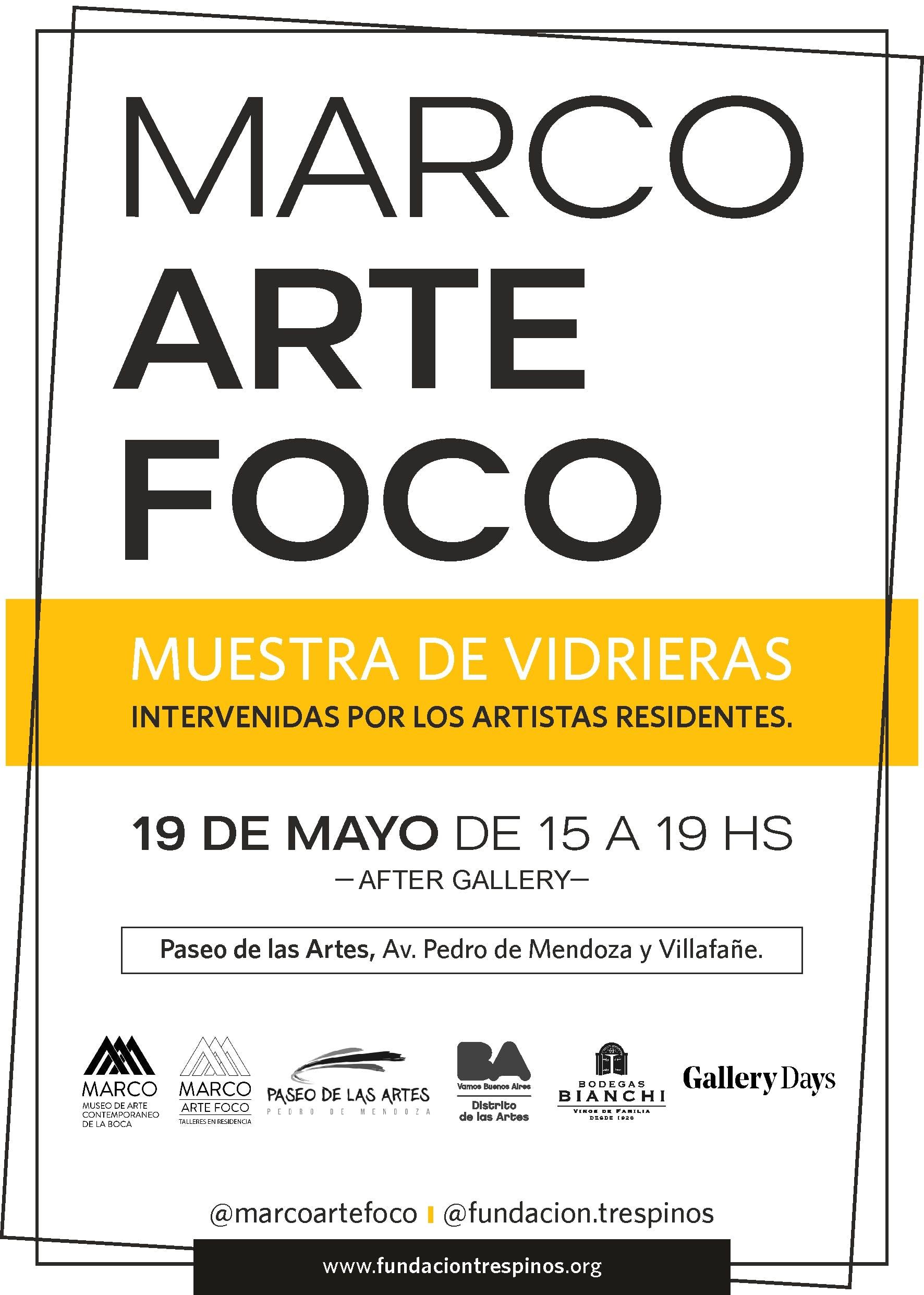 Marco Arte Foco #GalleryMember De Gallery Days - 19 MAY 2018