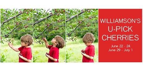 U-Pick Cherries at Williamson's tickets