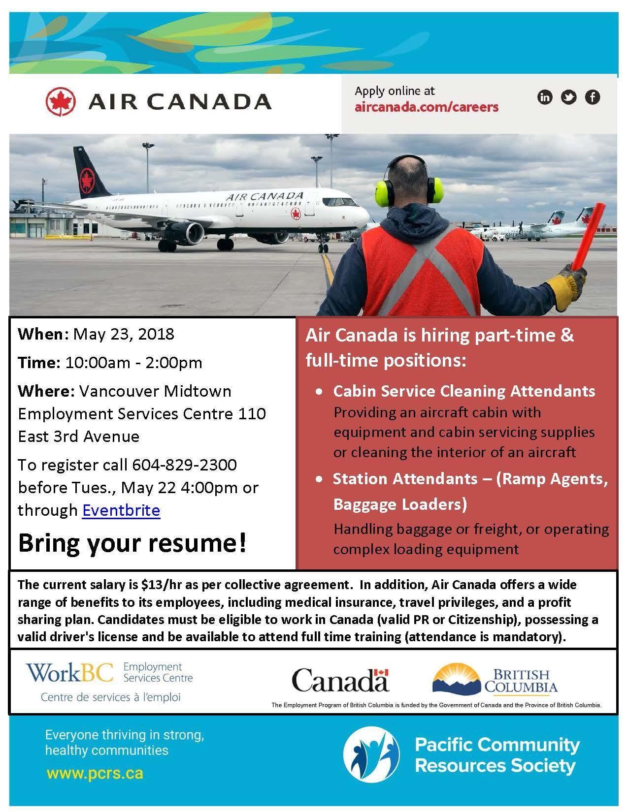 Air Canada Job Fair with Midtown WorkBC
