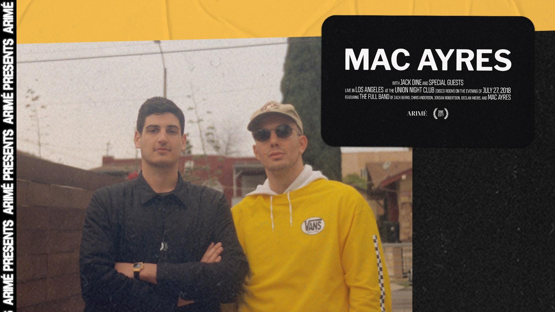 Meet Greet With Mac Ayres And Jack Dine 27 Jul 2018