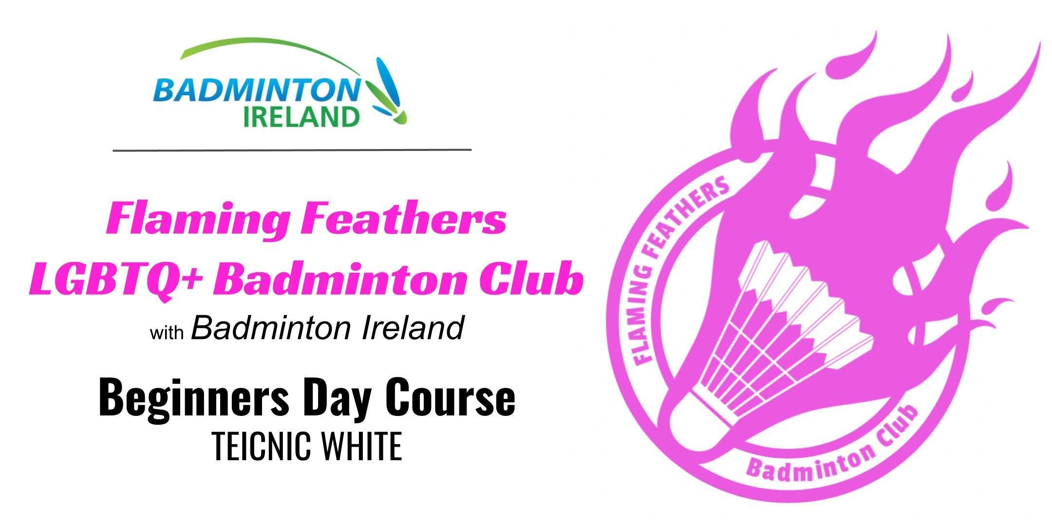 Beginners Badminton Day Course - Teicnic White