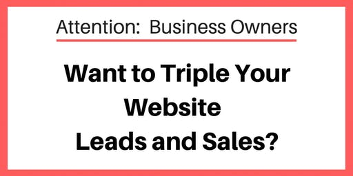 Free Event Secrets To Triple The Amount Of Leads S On Your Website Virginia Beach Wed