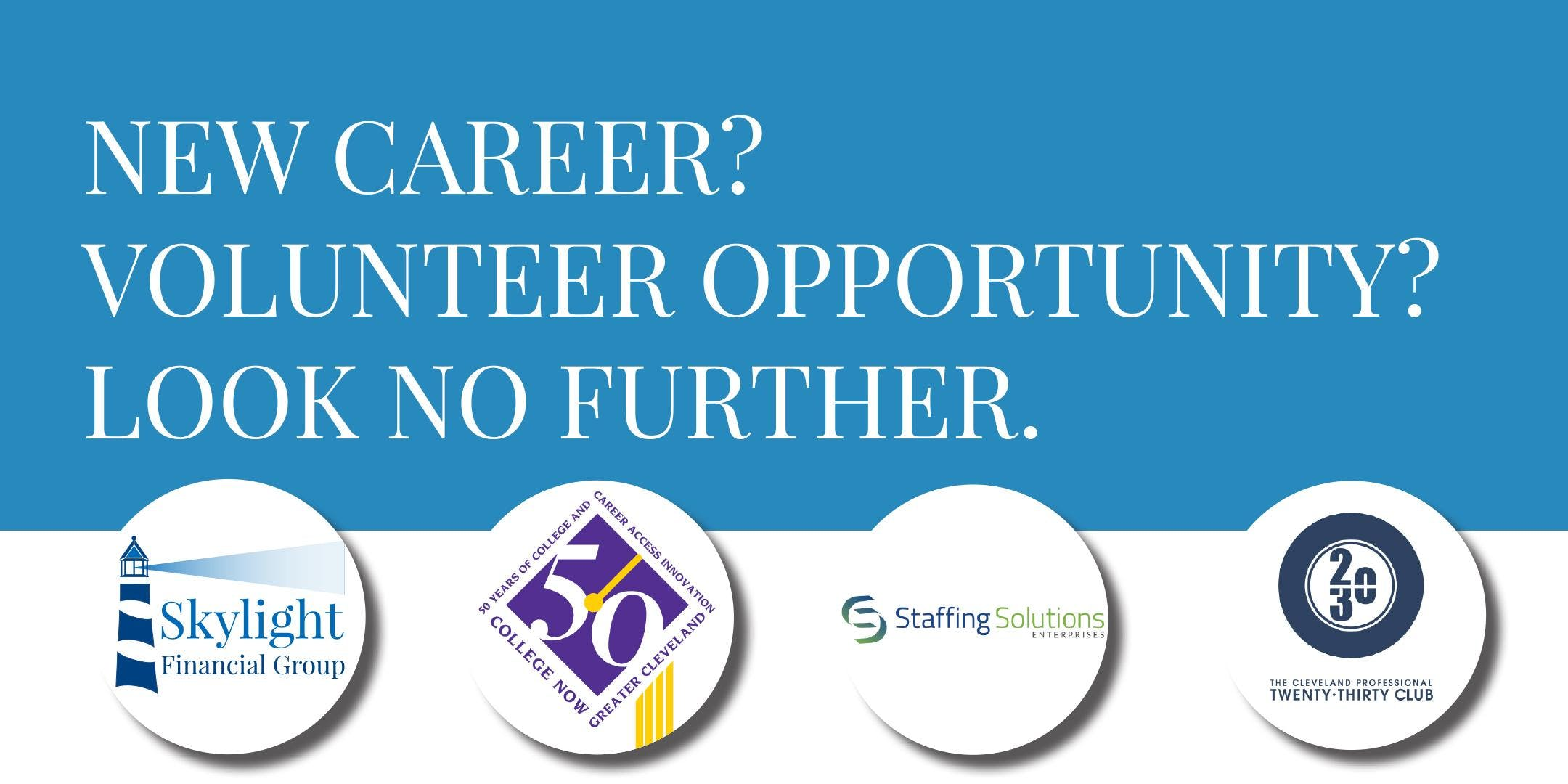 New career?  Volunteer opportunity? Look no further.