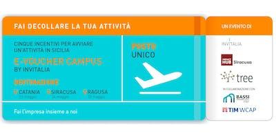 Invitalia e-voucher campus | Catania mercoledì 23 maggio