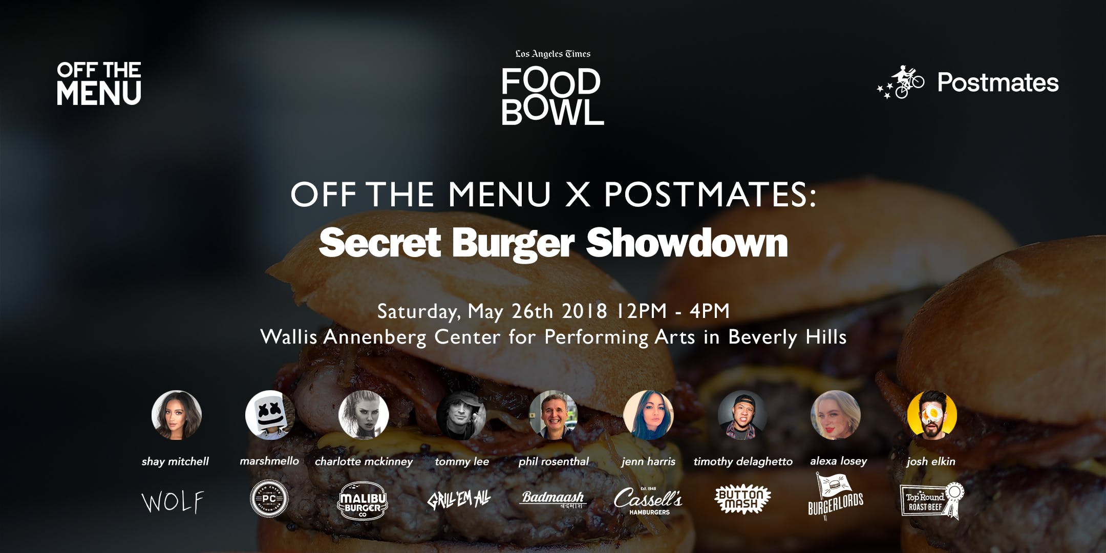 Off The Menu x Postmates: Secret Burger Showd