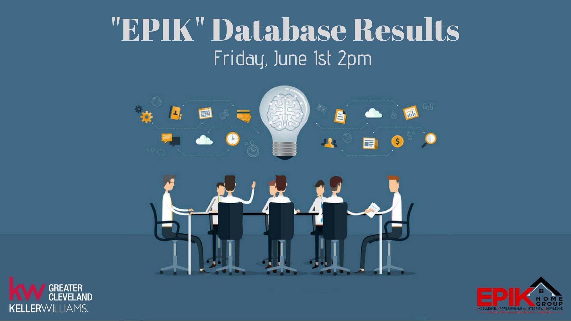 """""""EPIK"""" Database Results"""