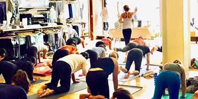 Group Yoga supporting Girls on the Run