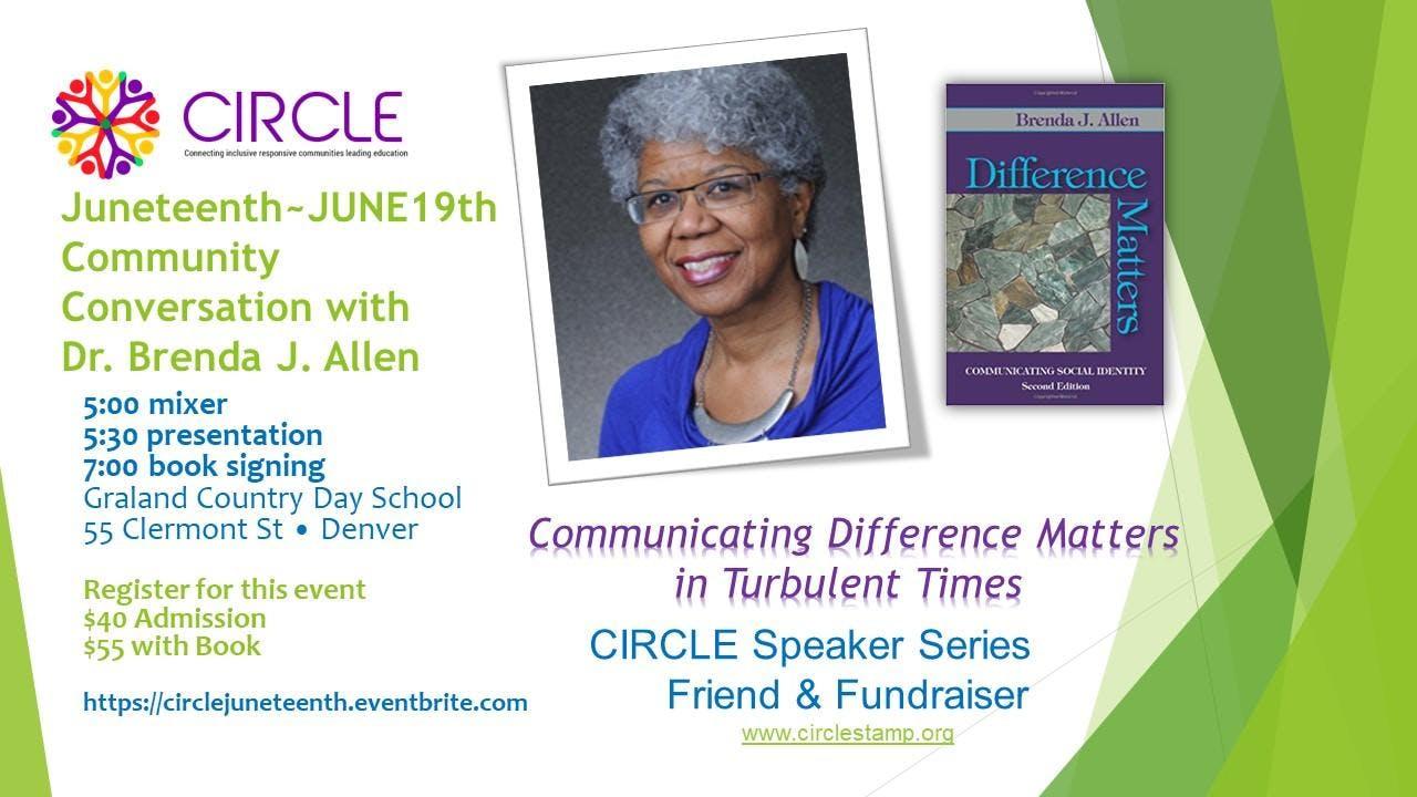 Circle Juneteenth Community Conversation Friend Fundraiser