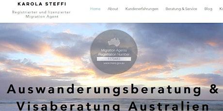 Visum Beratung Australien- Auswandern Australien (Sage Global Australia Pty Ltd)  Karola Steffi  Tickets