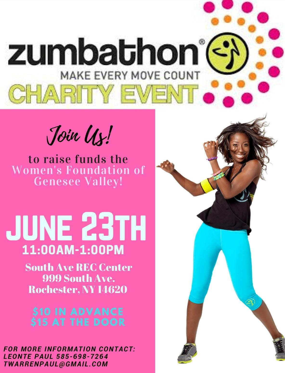 ZUMBATHON FOR WOMENS FOUNDATION OF GENESSEE V