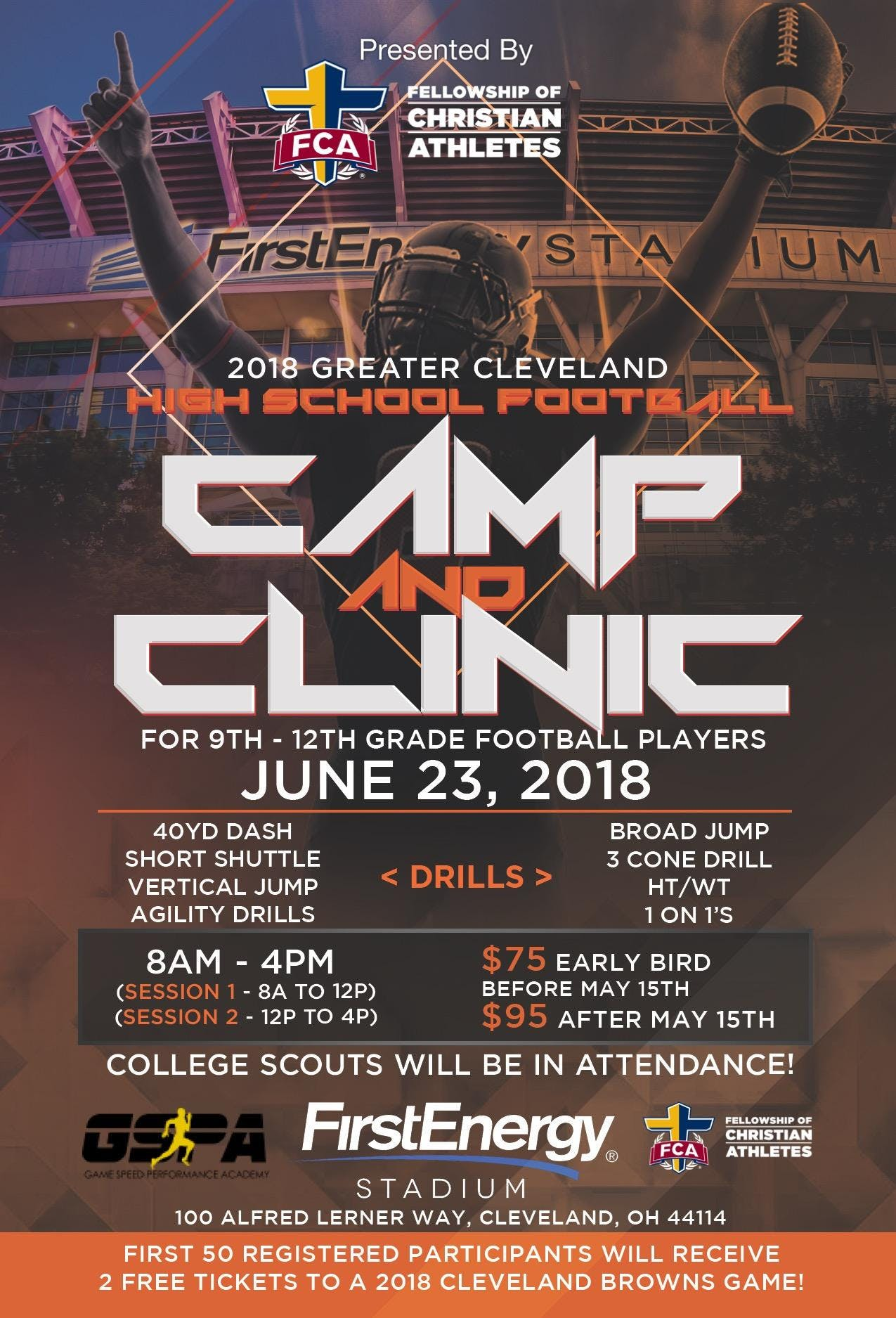 Greater Cleveland Football Camp &amp Clinic