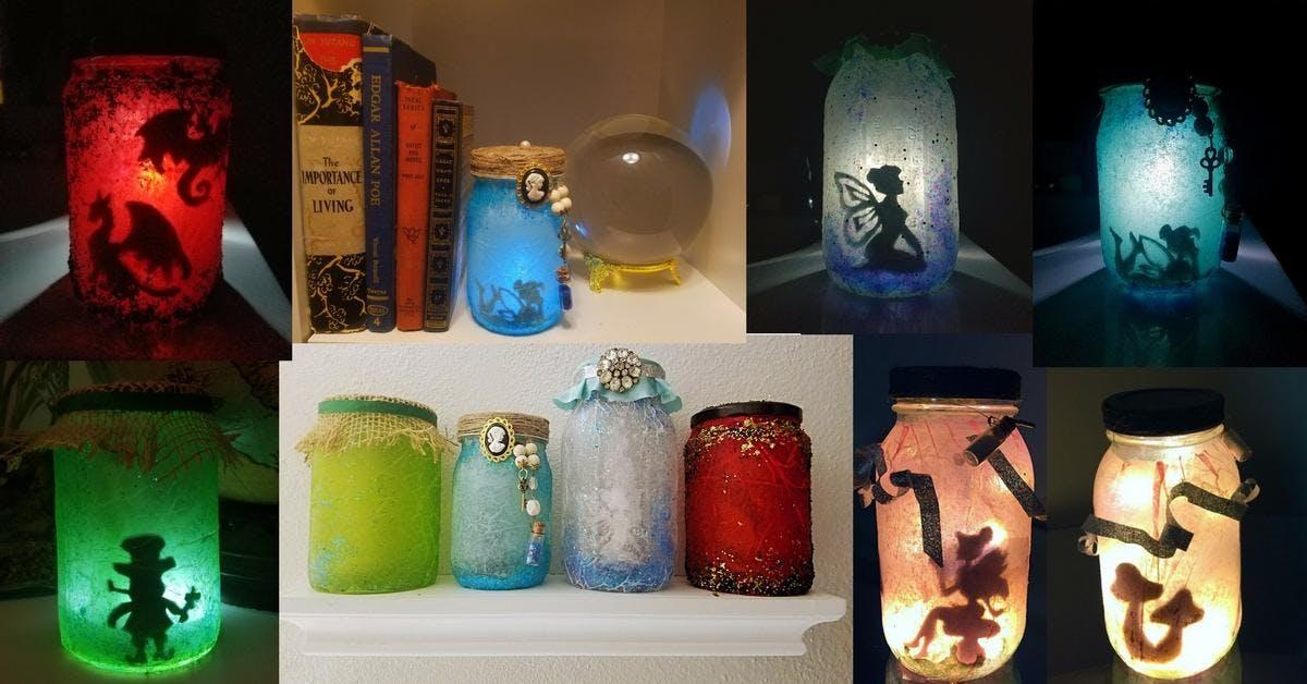 Mason Jar Luminary Craft n' Sip Party at Parr