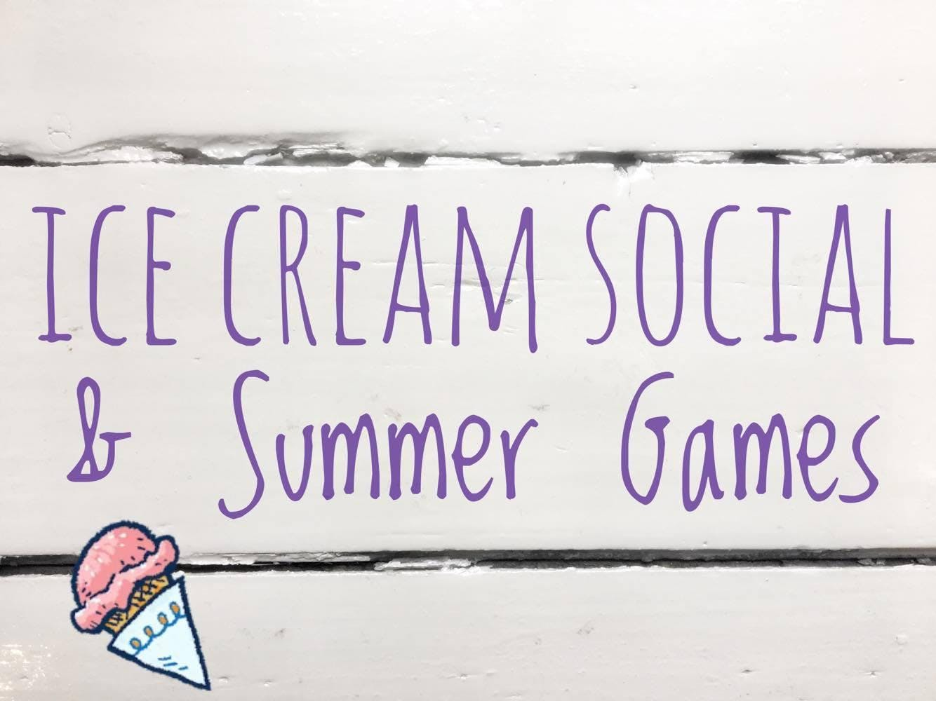 Ice Cream Social & Summer Games at the Greele