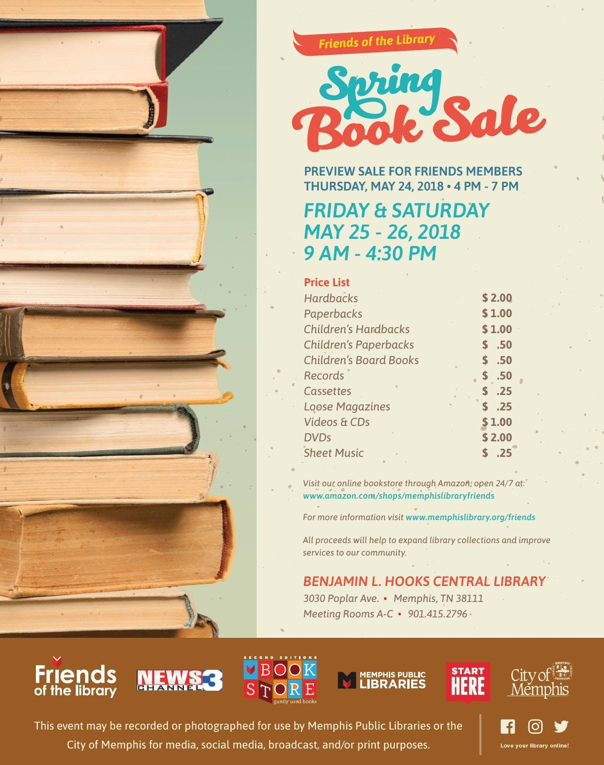 Friends of the Library Spring BOOK SALE!