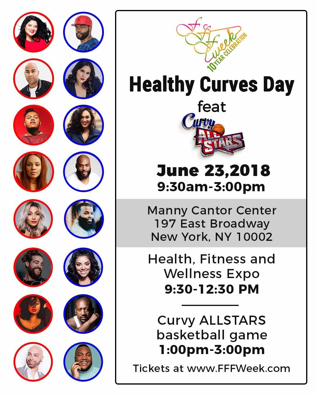 FFFWeek Presents Healthy Curves Day featuring The Curvy All Stars Charity Basketball Game