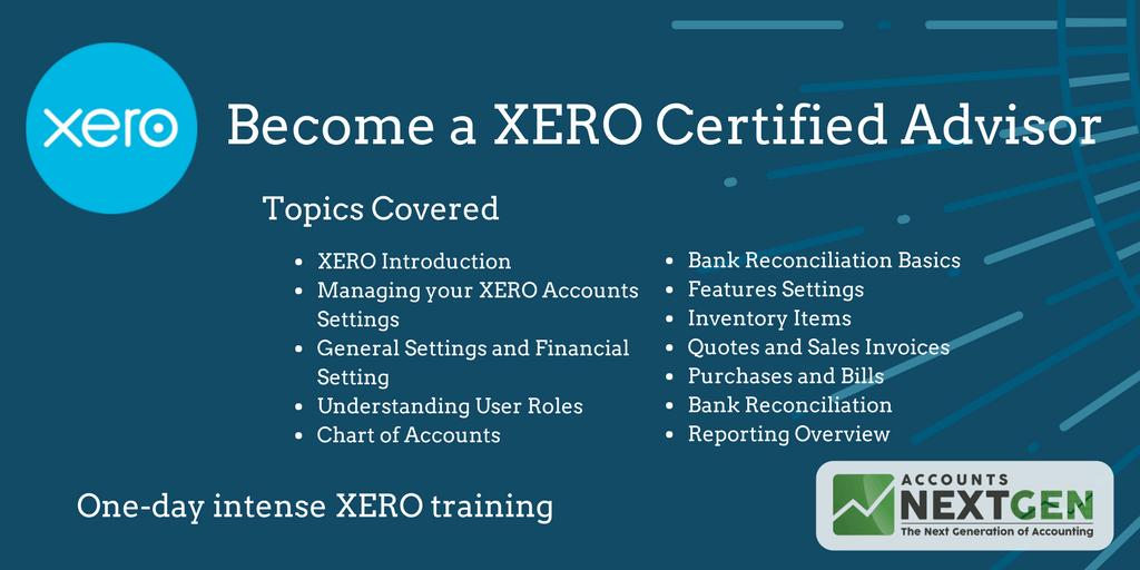 Become A Xero Certified Advisor 20 Sep 2018