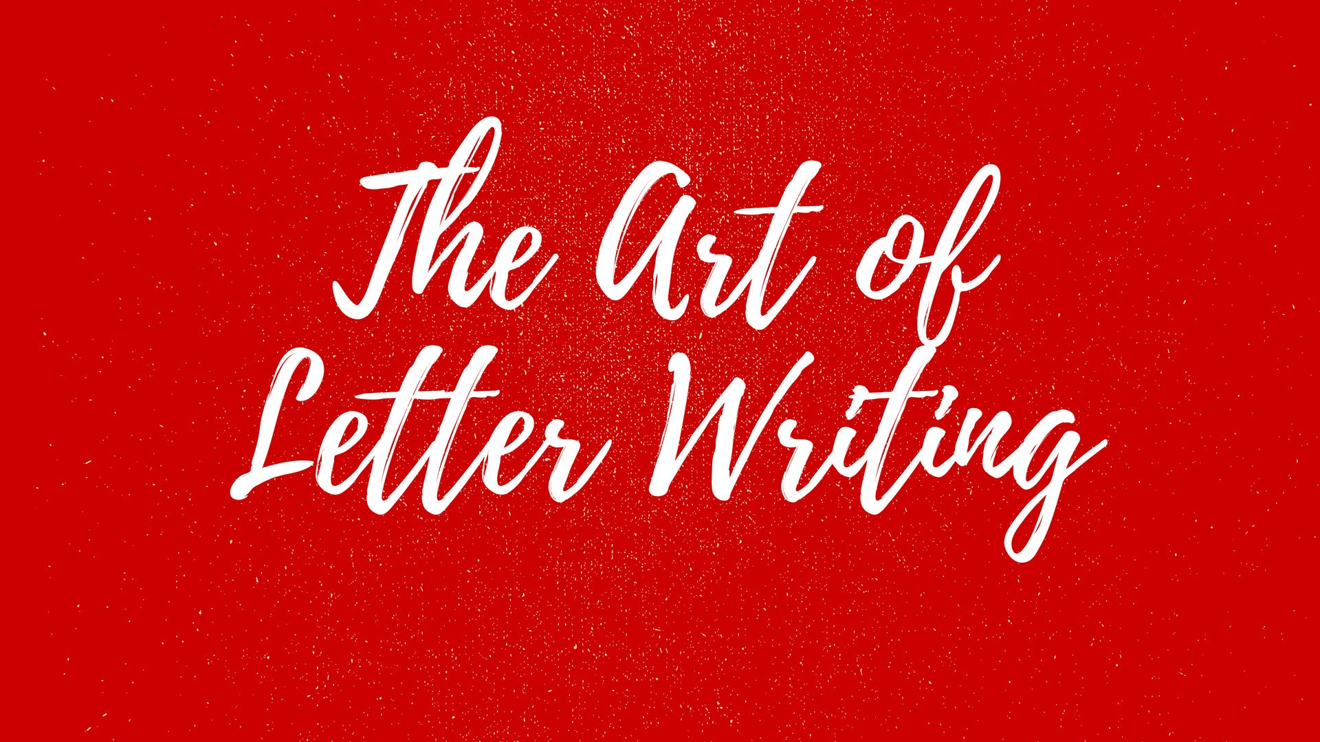 Modern Calligraphy - The Art of Letter Writing (Paid Event)
