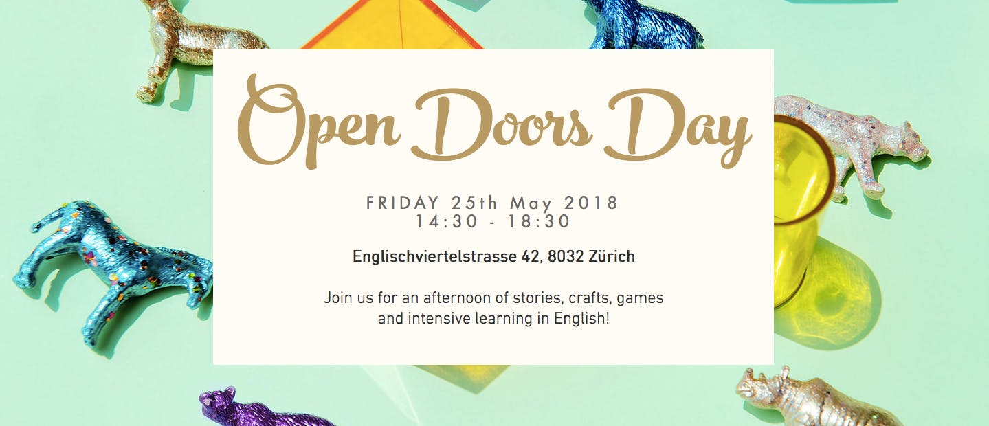 FREE Kids Workshops in English in Zurich - Fri, 25th May - YAY!