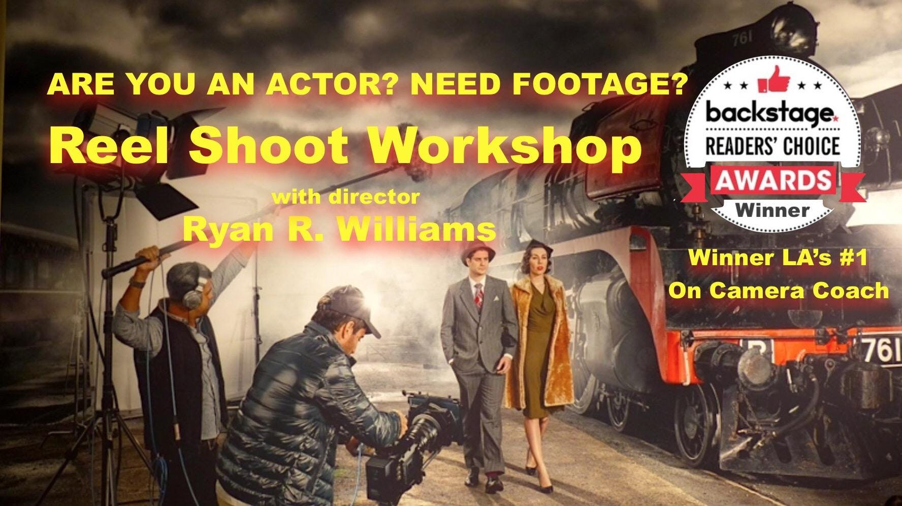 On Camera Actor Reel Shoot Event NYC   MONDAY