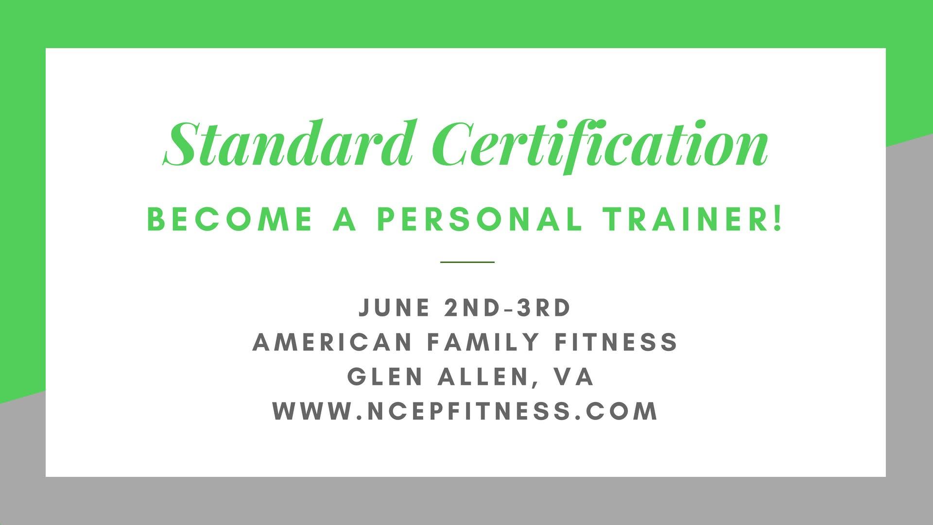 Personal Training Workshopcertification 2 Jun 2018