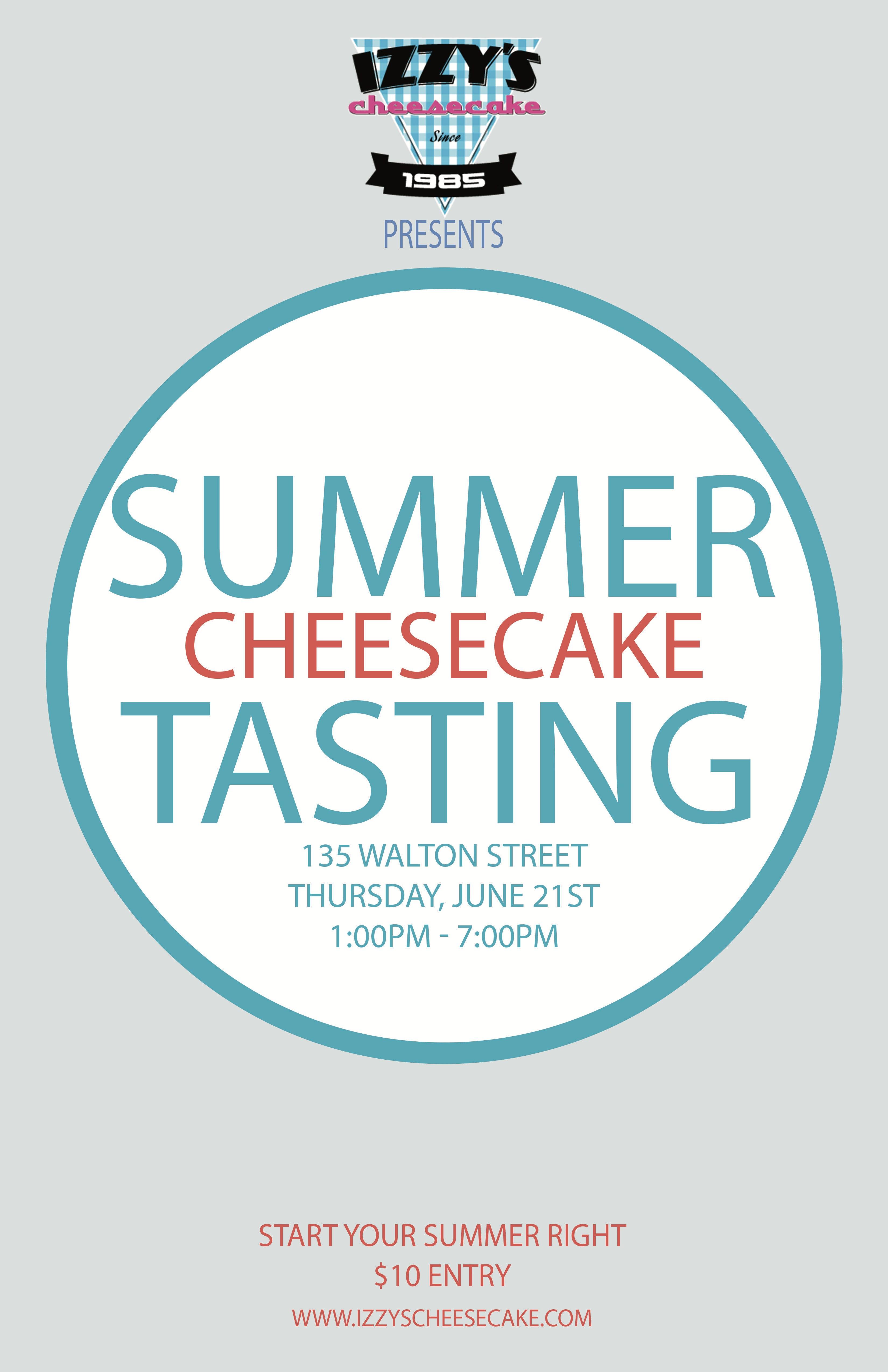 Izzy's Summer Cheesecake Tasting