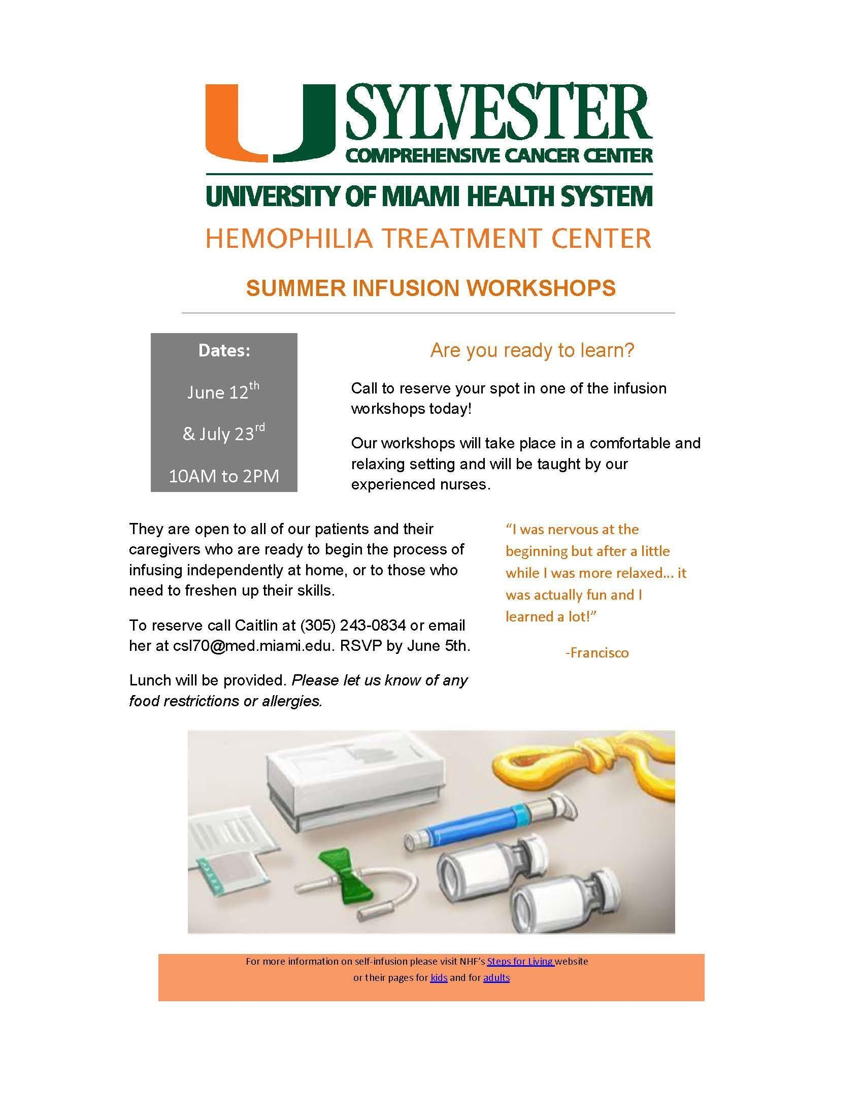 Summer Infusion Workshop 2018 #2: University