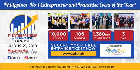 new style 292c3 b32b5 6th Entrepreneur and Franchise Expo 2019 tickets
