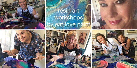 Resin Art Workshop One on One - private lesson to create your own resin art tickets