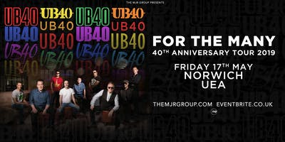 "UB40 - 40th Anniversary Tour ""For The Many\"" (UEA, Norwich)"