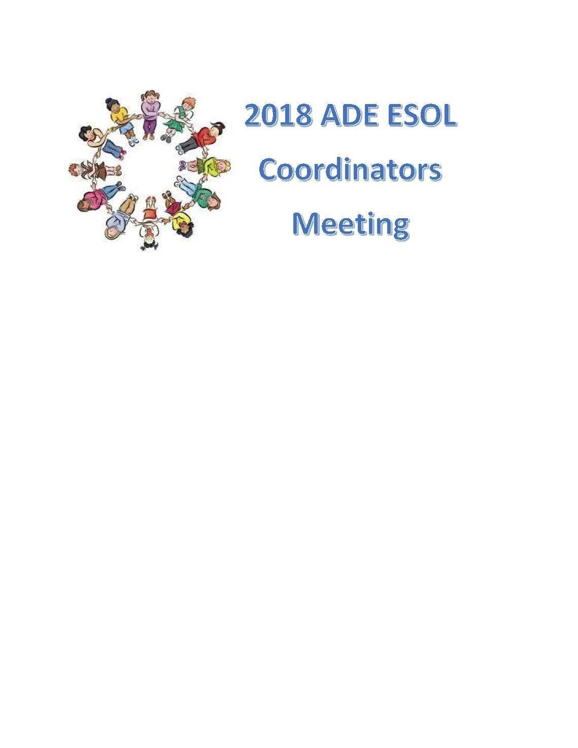 2018 Arkansas ESOL Coordinators Meeting