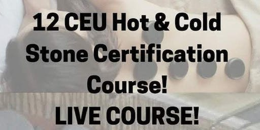OCTOBER 2019 HOT & COLD STONE CERTIFICATION COURSE