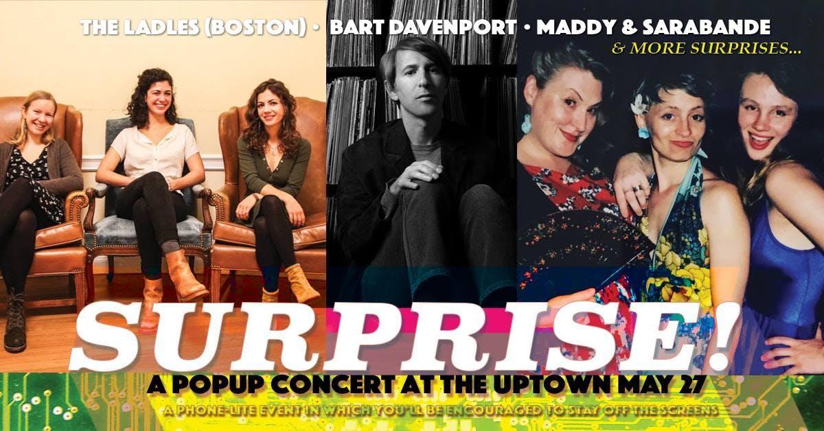 Surprise Pop Up Concert! Bart Davenport, The