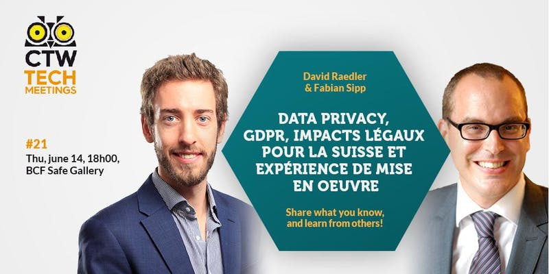 Tech Meeting #21 - GDPR et Data Privacy