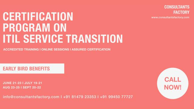 ITIL Service Transition Training  ITIL Service Transition Certification