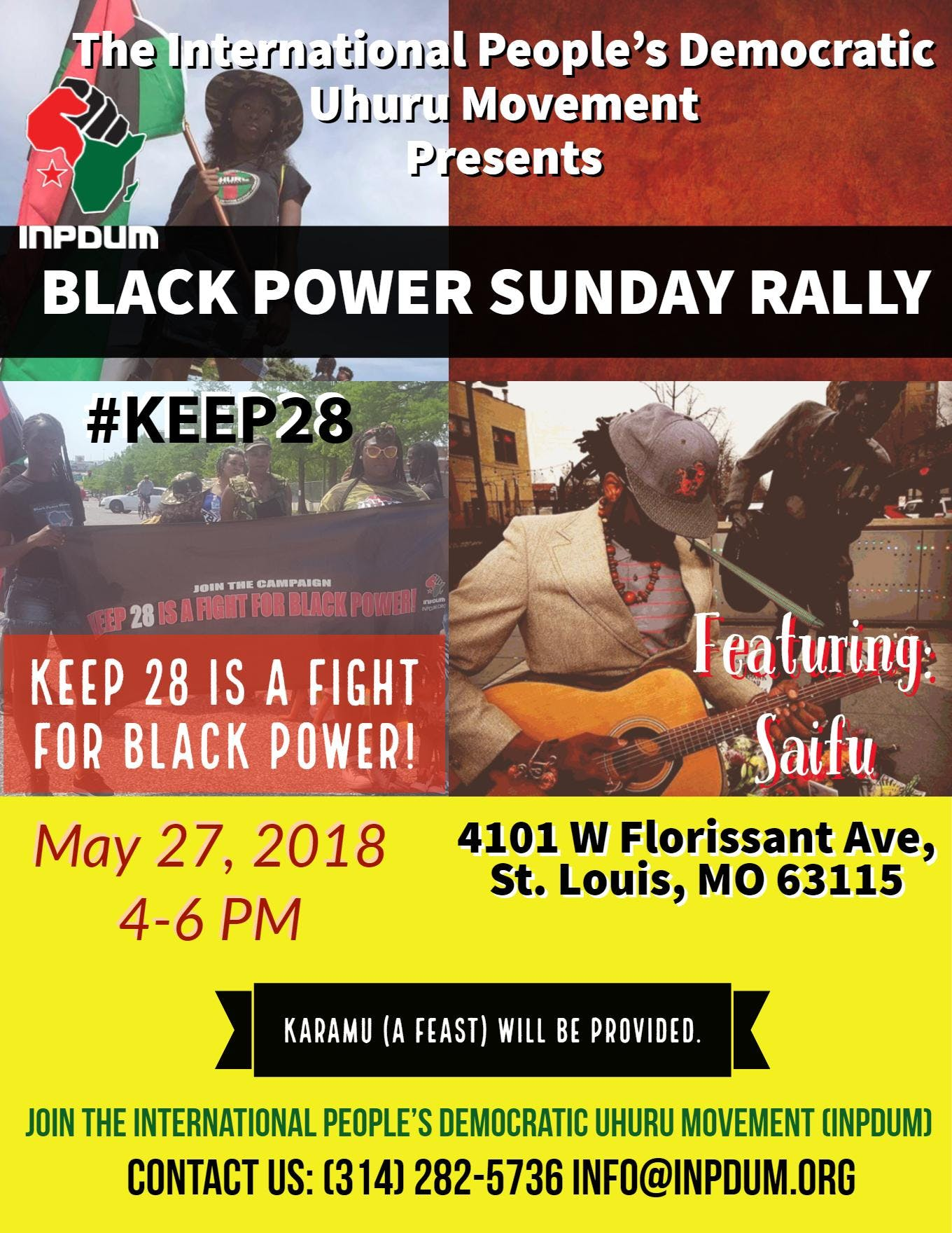 Black Power Sunday Rally: KEEP 28 IS A FIGHT