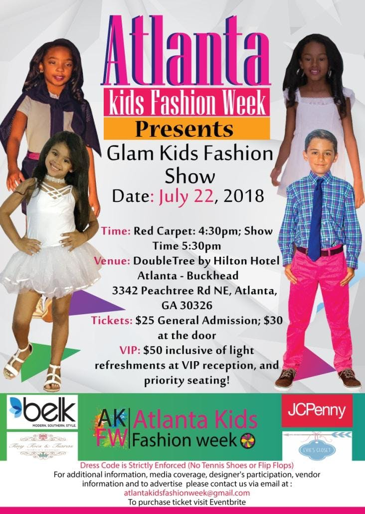 Atlanta Kids Fashion Week Glam Kids Fashion Show 22 Jul 2018