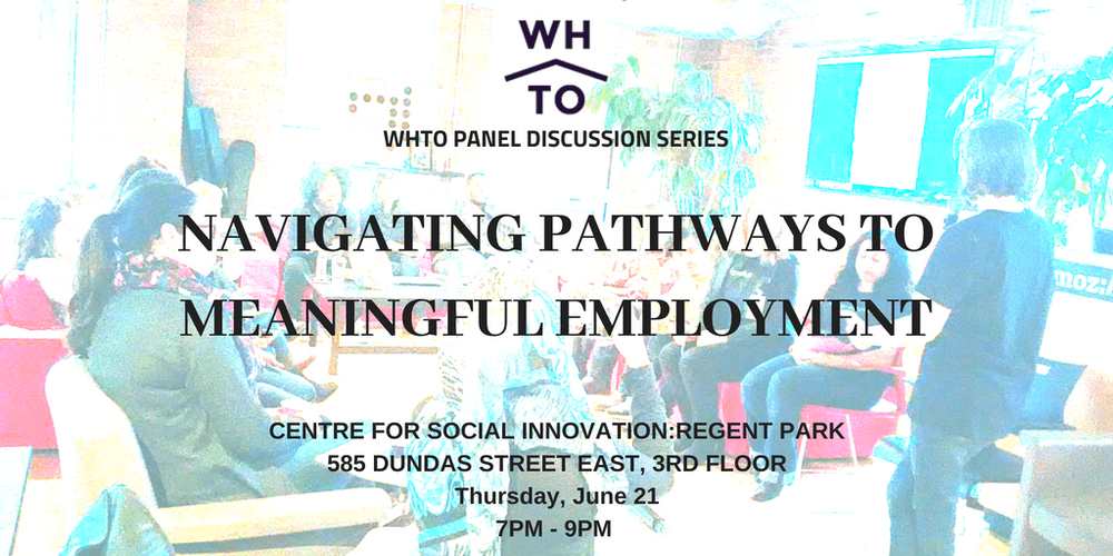 WHTO Panel Discussion Series: Navigating Pathways to Meaningful Employment