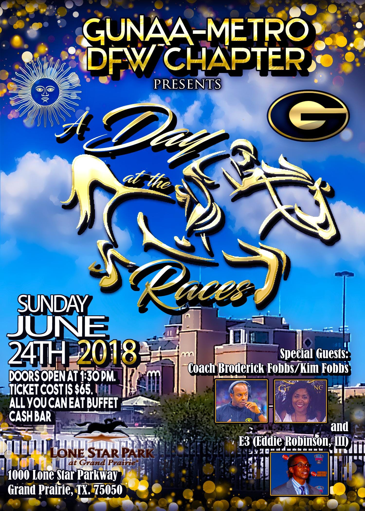 """GUNAA Metro DFW Chapter presents """"A Day at th"""