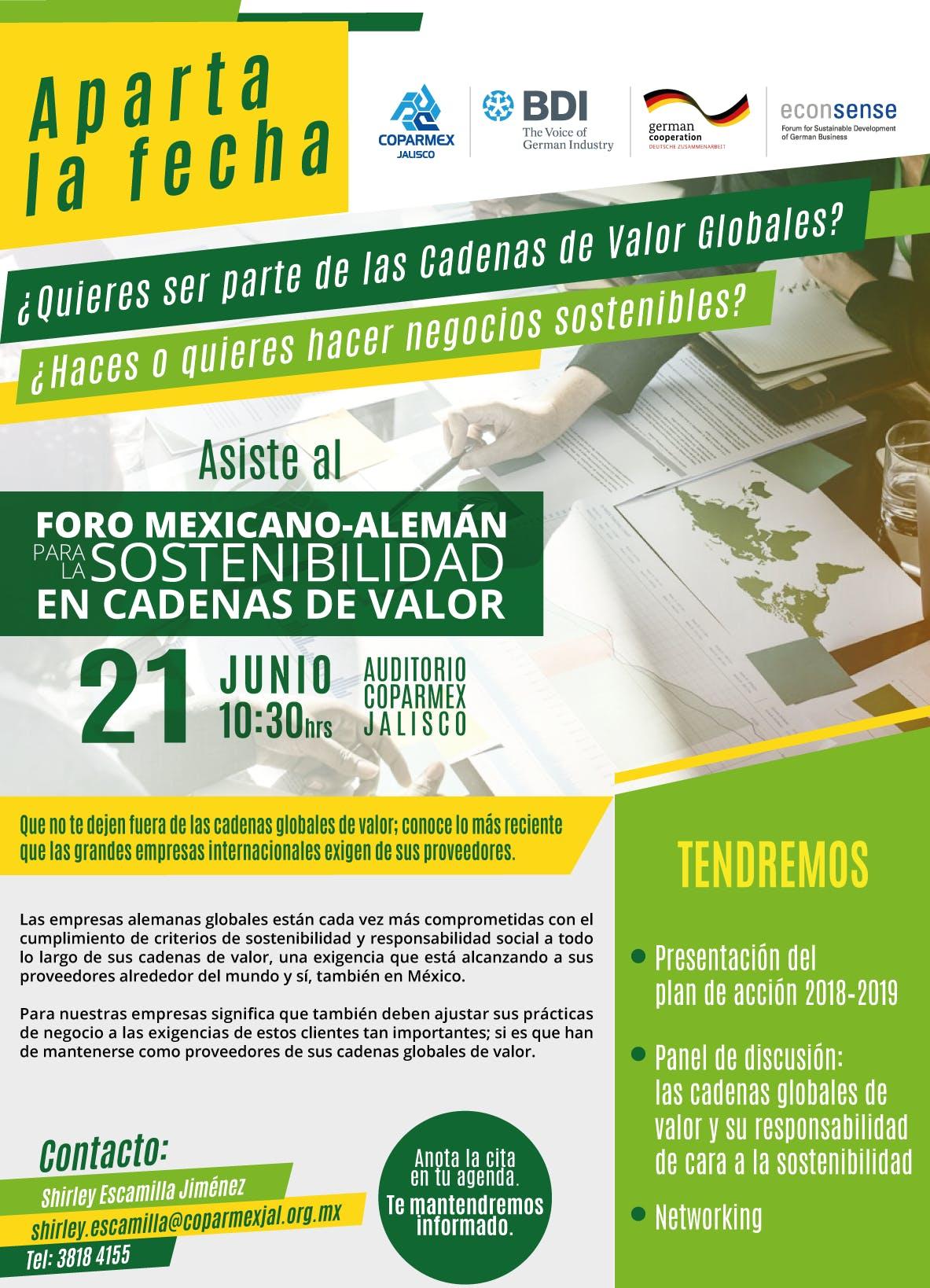 Foro Mexicano-Alemán para la Sostenibilidad e