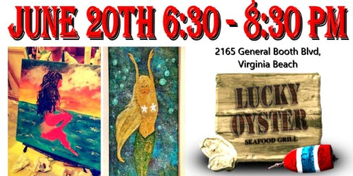 Paint Night At Lucky Oyster Restaurant