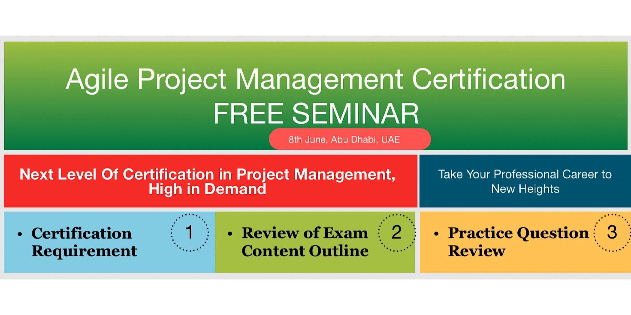 Agile Project Management Certification Seminar 8 Jun 2018