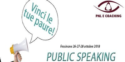 Corso Public Speaking - paura o divertimento?