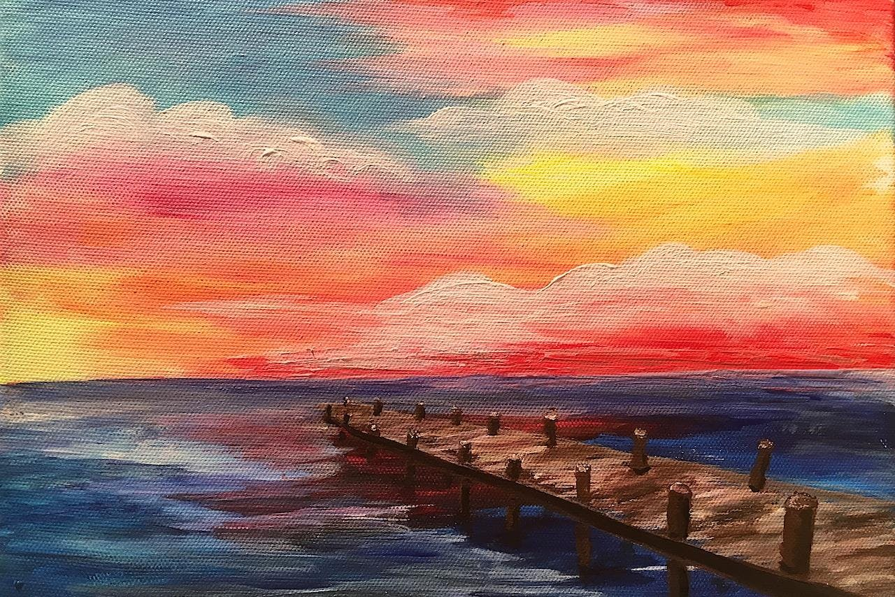End of the Pier $40  - Acrylic Painting Class